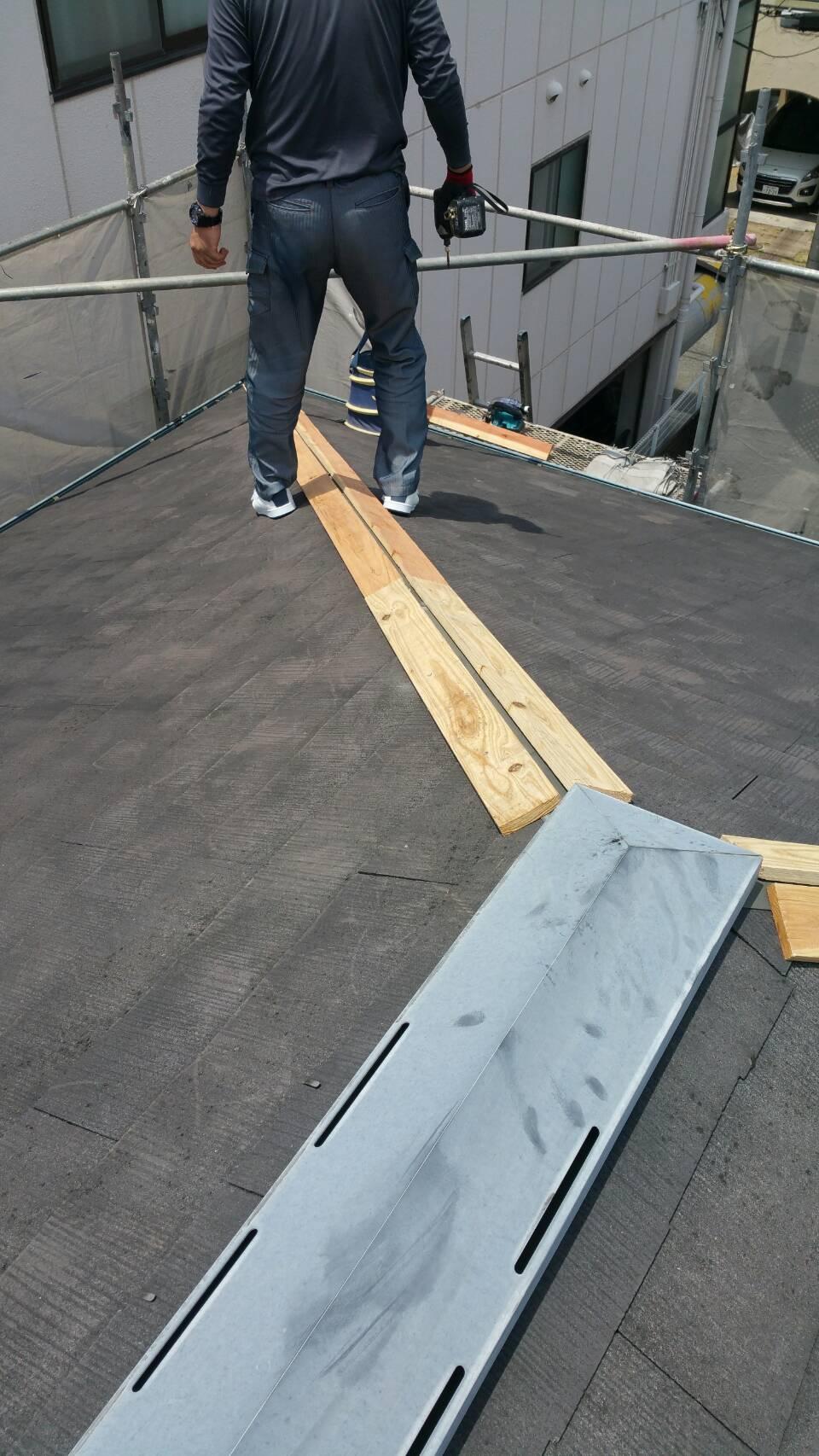 屋根板金交換しました!